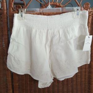Volcom Womens White Cotton Shorts Medium NWT